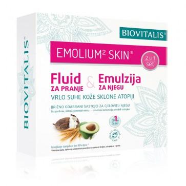 Emulzija i fluid za njegu vrlo suhe kože sklone atopiji - Emolium² skin Set 2 u 1
