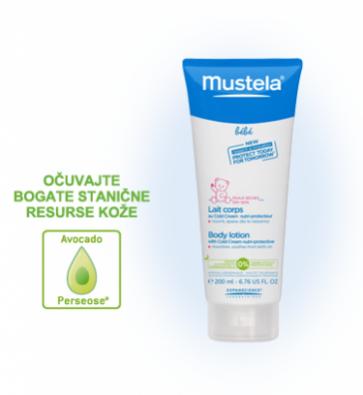 Mustela zaštitno mlijeko za tijelo s Cold kremom