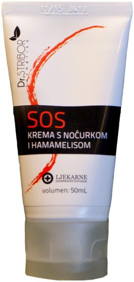 Dr. Stribor SOS krema s noćurkom i hamamelisom