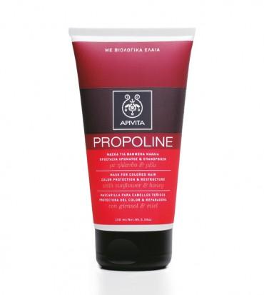 Apivita Propoline maska za obojenu kosu koja štiti boju sa suncokretom i medom
