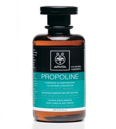 Apivita Propoline uravnotežujući šampon za izrazito masnu kosu s paprenom metvicom i propolisom