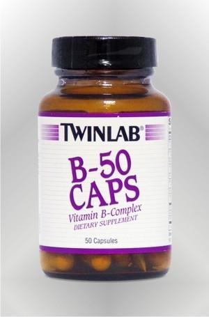 B-50 vitamini B kompleksa - kapsule - TWINLAB