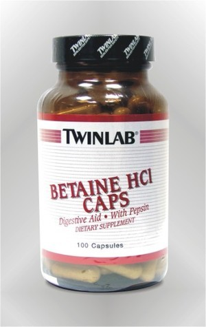Betain hidroklorid - kapsule - TWINLAB